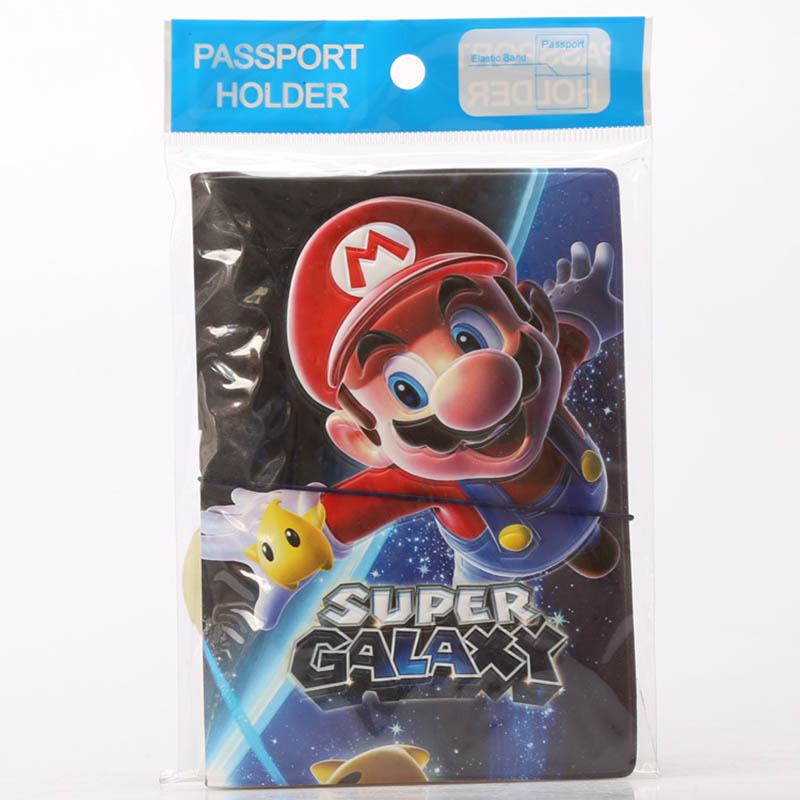 Travel Accessories Passport Holders Covers Cartoon 3D Cute Mario PU Leather ID Bank Card Bag Men Women Passport Business Case