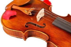 Image 5 - כינורות מקצועי מחרוזת מכשירי כינור 4/4 טבעי פסים מייפל Violon מאסטר יד קרפט Violino עם מקרה קשת רוזין