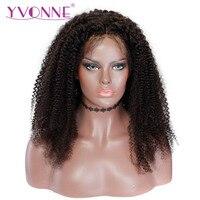 Ивонн бразильские натуральная кудрявый парик с ребенком волос естественной Цвет 250 плотность Синтетические волосы на кружеве человеческих