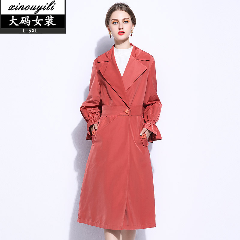 Large Size Women's Thick Long Wool Coat Women 2017 New Autumn And Winter Plus Fertilizer Loose Petal Sleeve Lace Coat Female 2016 new mori girl national trend loose plus size with a hood denim autumn and winter women medium long plus cotton thick vest