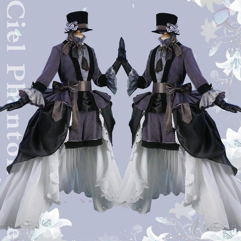 [Pre-sale] Anime Black Butler Cie Phantomhive Party Dress Gemini Cosplay Costume Uniform Halloween costume Full set S-L New 2019