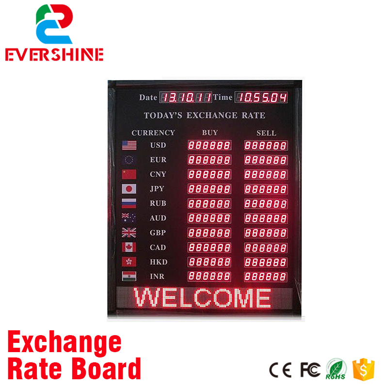 Alibaba Express led display sign indoor bank and hotel currency exchange rate board led display 1 sign red digit number board indoor led exchange rate board language for kazakhstan