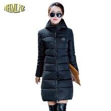Мода Зимняя Куртка Новый Стиль Женщины Пальто Средней Длины Толстый Теплый С Капюшоном Куртки Досуг Большой размер Тонкий женская одежда G2887