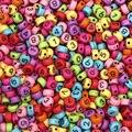 200 шт разноцветные акриловые бусины с цифрами 7 мм для ювелирных изделий, маркировочные бусины, подвеска для браслета, ожерелья, ювелирные из...