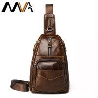 MVA Vintage Genuine Leather Shoulder Bag Leather Men Chest Bag Small Men Messenger Bags For Man
