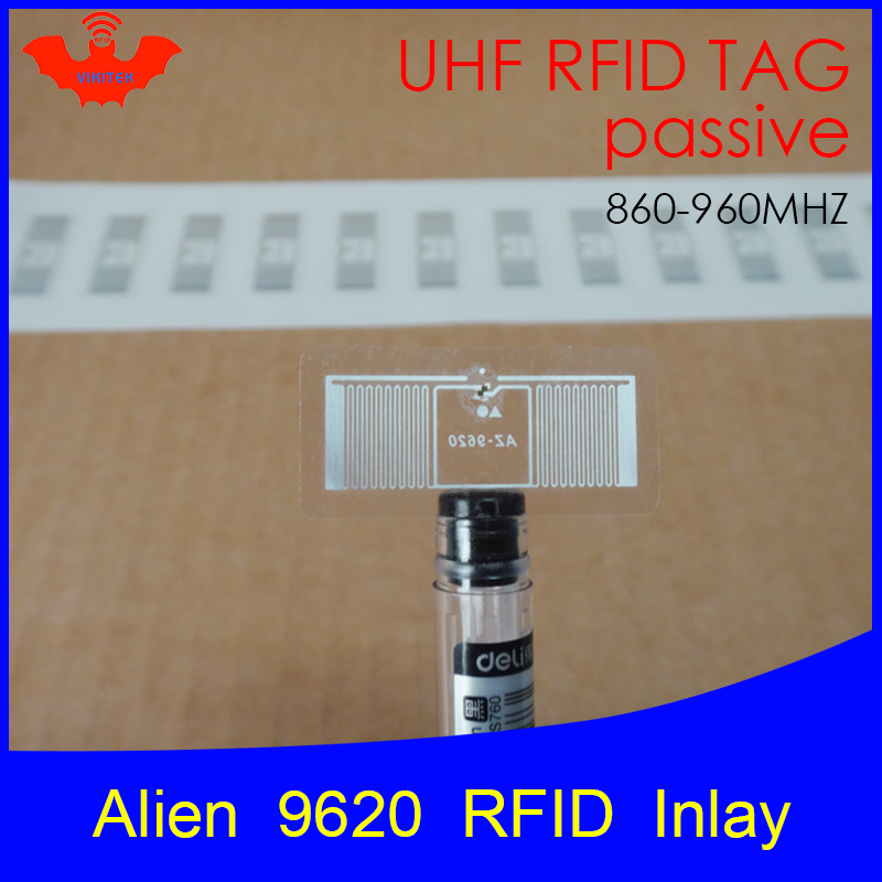 UHF RFID Tag Alien 9620 Inlay 915mhz 900mhz 868mhz 860-960MHZ Higgs3 EPC Gen2 ISO18000-6c Smart Card Passive RFID Tags Label