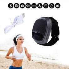 B90 Hände geben Anruf Uhr Wearable Bluetooth Lautsprecher Smartwatch Lautsprecher Tragbare Gerät FM Radio TF Selbstauslöser Für Android telefon