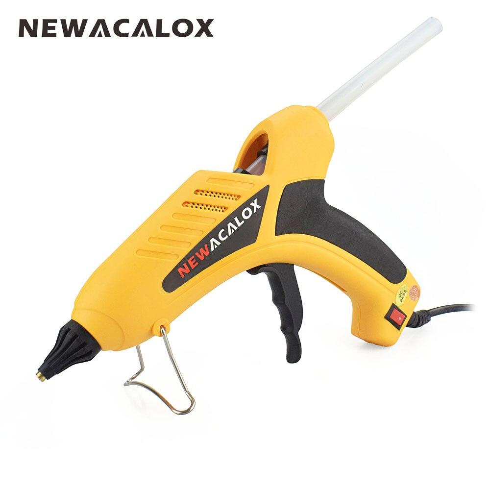NEWACALOX 100W EU Electric DIY Hot Melt Glue Gun With Free 20pc 11mm Glue Stick Handy Heater Thermo Gluegun Craft Repair Tool цены