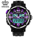 SMAEL 7 Fashion Colors Men Sports and Leisure Style  Quartz Electronic Watches Male Digital LED Display Clock Watch Reloj Hombre