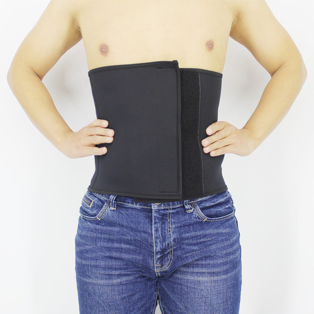 Men Body Shapers Belt Plus Siz Slimming Shapers Belts Waist Trimmer Natural Weight Loss Neoprene Workout Belt Compression Corset 1