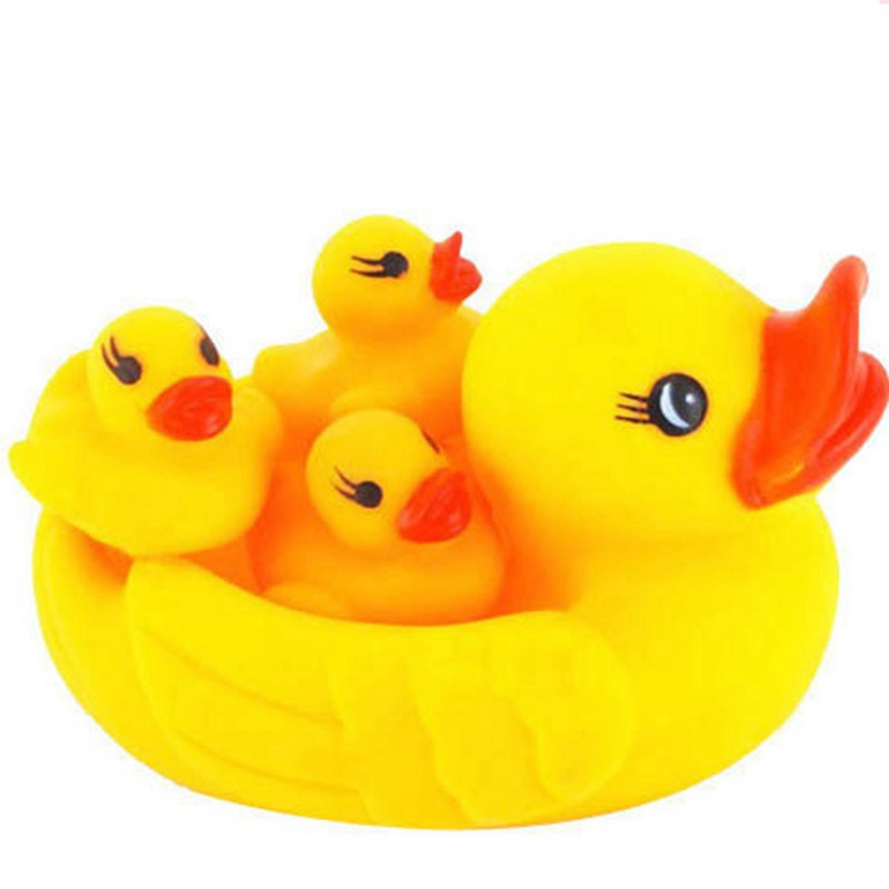 4Pcs/lot cute child baby bath duck bath accessory product animal baby shower swimming po ...