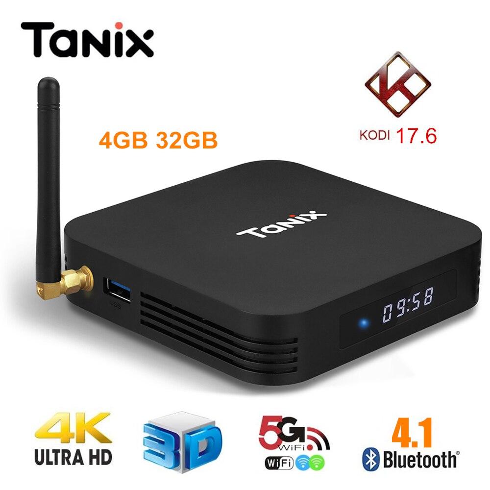 Tanix TX28 TV Box Andriod 7.1 RK3328 4 GB RAM 32 GB ROM 2.4G/5G WiFi Set Top Box Bluetooth 4.1 100 Mbps USB3.0 Smart Box pk TX9 Pro