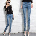 Women Diamond Ripped Denim Jeans Brand Slim Casual Skinny Pants Plus Size Trousers Summer Spring Jeans