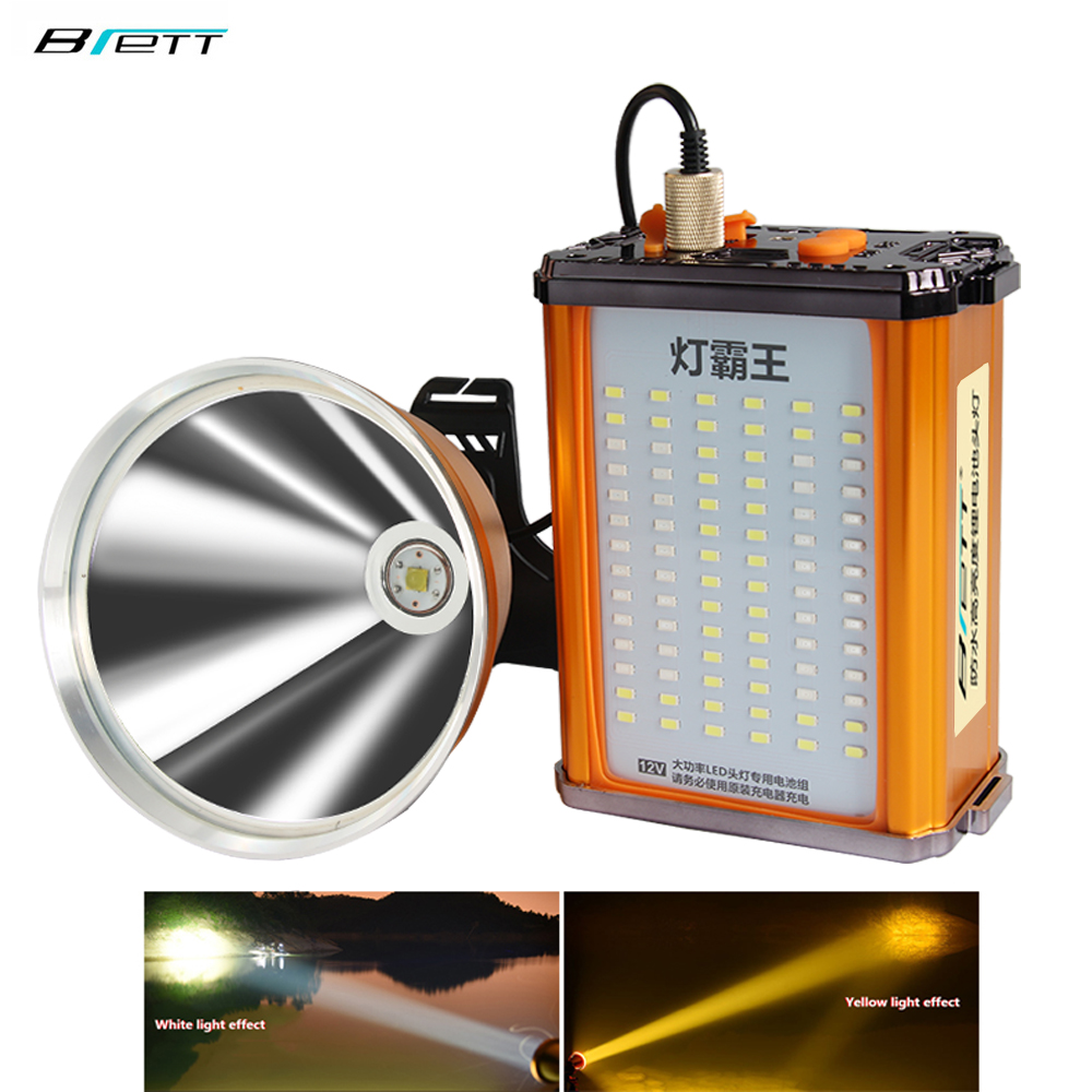 Head Lamp Led Rechargeable Cree Xhp70.2 White And Yellow Light Optional Built-in 24 Lithium Battery 12 V Flashlight Headlight