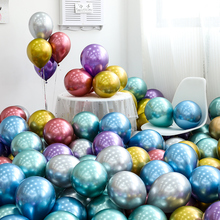 Wholesale 50pcs 12inch Metallic Chrome Latex Balloons Thick Gold Pearly Metal Luster Birthday Wedding Party Decoration JL0053
