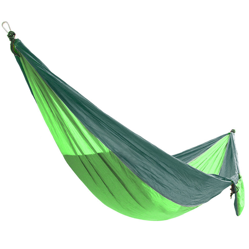 Outdoor Double Person Hammock Swing Bed Portable Parachute Hammock Travel Camping 270cmX140cm Outdoor Tools Accessory