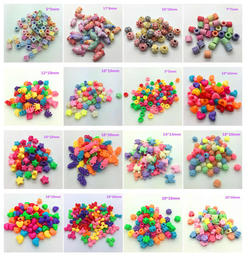 Bracelet-Accessories Perforation Making-Earrings Beads Diy Acrylic Jewelry Necklace Mixed-Colors