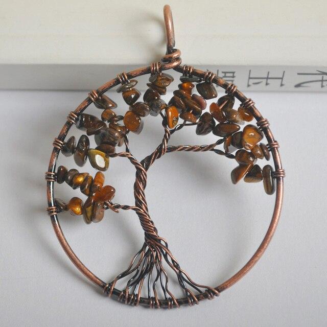 Lucky handmade tree of life tigereye bronze copper wire wrap pendant lucky handmade tree of life tigereye bronze copper wire wrap pendant jewelry for woman gift s1292 aloadofball Choice Image