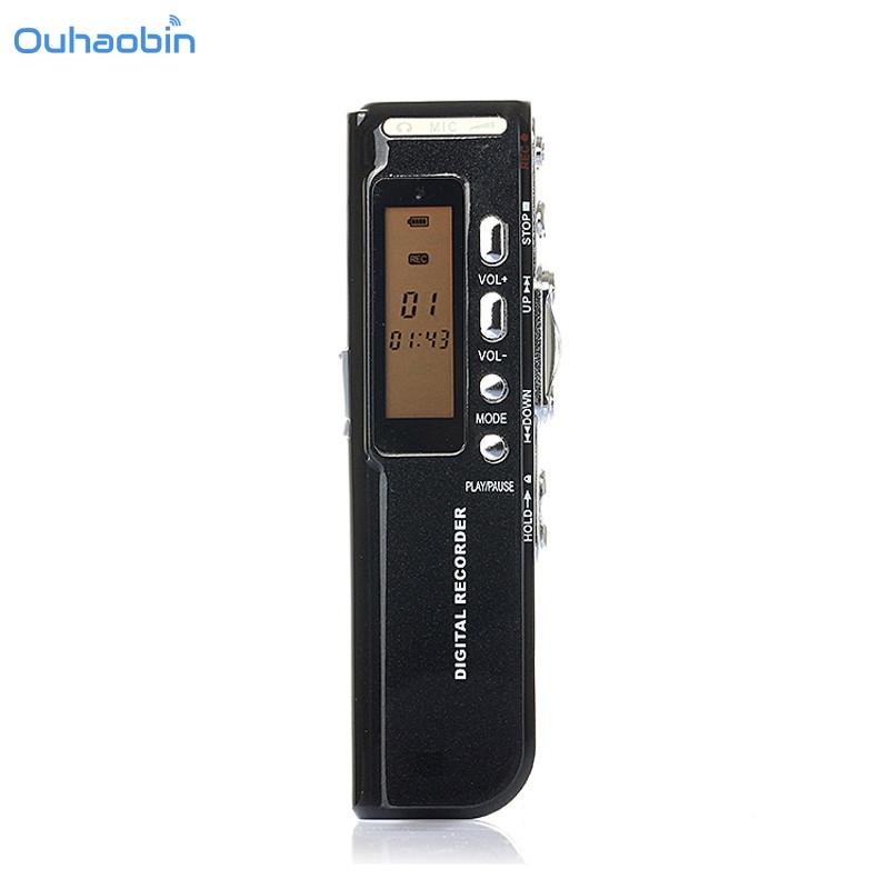 Unterhaltungselektronik Digital Voice Recorder Verantwortlich Ouhaobin Neue Ankunft 8 Gb Usb Lcd Screen Digital Voice Recorder Diktiergerät Audio Musik-player Schwarz Tragbare Voice Recorder Sep8 Feines Handwerk