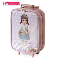 Cartoon Kids Suitcase for Boys Girls Wheeled Suitcase Child Luggage Travel Trolley Suitcase Children Rolling Luggage Suitcase