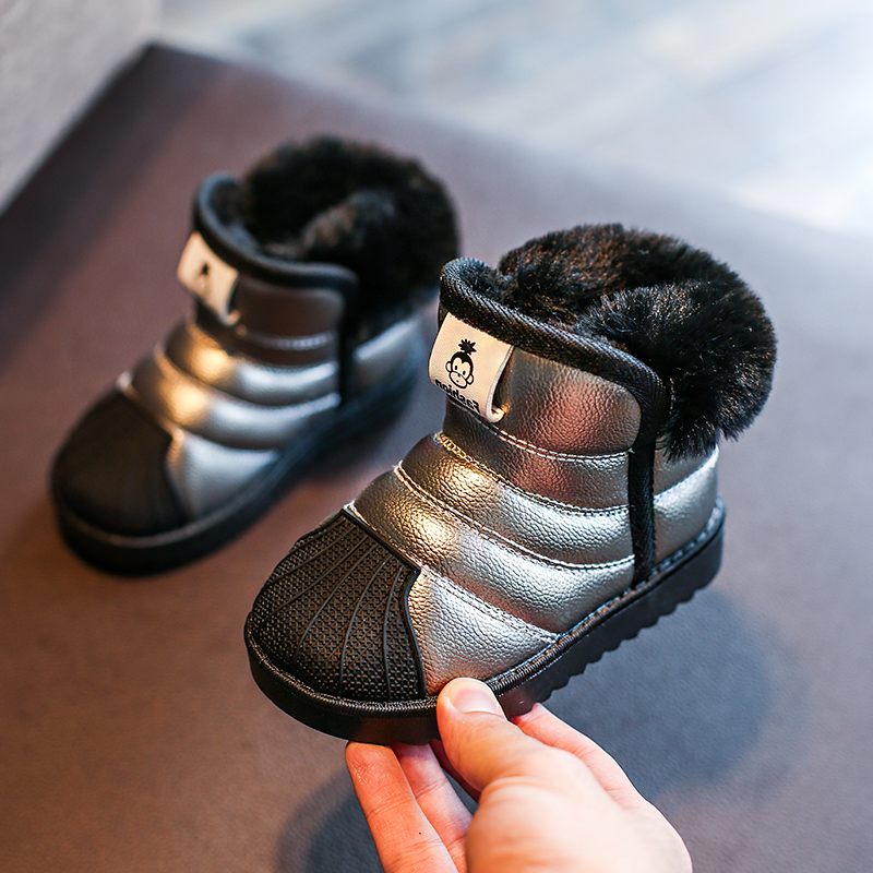 Winter Children'S Snow Boots For Kids Baby Boys Waterproof Non-Slip Boots Shoes Girls Fashion Cotton Plush Cashmere Warm Shoes