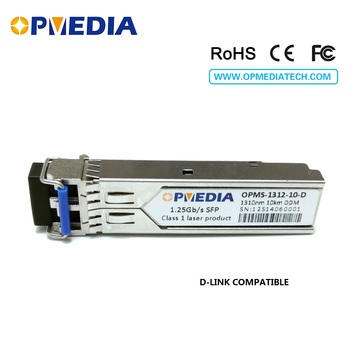 D-LINK compatible SFP-LX-SM,1.25G 1310nm 10KM SFP transceiver,1000base LX  SFP optical module,DDM,LC connector,Free shipping wholesales new 10pcs lot for cisco glc lh smd sfp optic module 1000base lx lh 1 25g 1310nm smf ddm 10km duplex lc connector