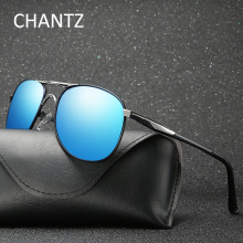 Retro Brand Men Oversized Polarized Sunglasses Fashion Mens Driving Sun Glasses Metal Eyeglasses UV400 Zonnebril Heren 8563