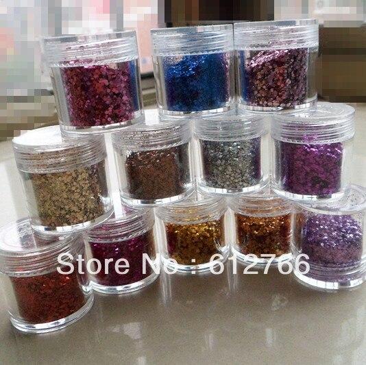 free shipping nail art  glitter powder  12pcs/set