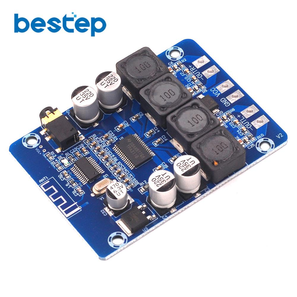 XH-M314 TPA3118 2x45W 12V 24V Stereo Audio Bluetooth Digital Power Amplifier Board AmplificadorXH-M314 TPA3118 2x45W 12V 24V Stereo Audio Bluetooth Digital Power Amplifier Board Amplificador