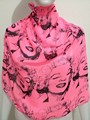 Free Shipping Bright color Beauty Marilyn Monroe 70CM*70CM Square Chiffon Scarf For Women/Ladies/Girls 2017 Hot Sale