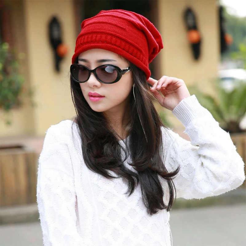 2019 جديد أزياء الشتاء القبعات للنساء الصلبة الدافئة القبعات محبوك بيني كاب العلامة التجارية سميكة الإناث كاب الجملة ل الخريف الرجال قبعة