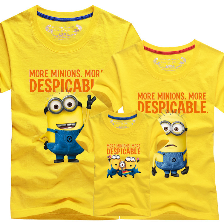 c7e5c857 2016 New Family Look T Shirts 13 Colors Summer Family Matching Clothes Dad  & Mom & Son & Daughter Cartoon Minions Outfits, HC311-in Matching Family  Outfits ...