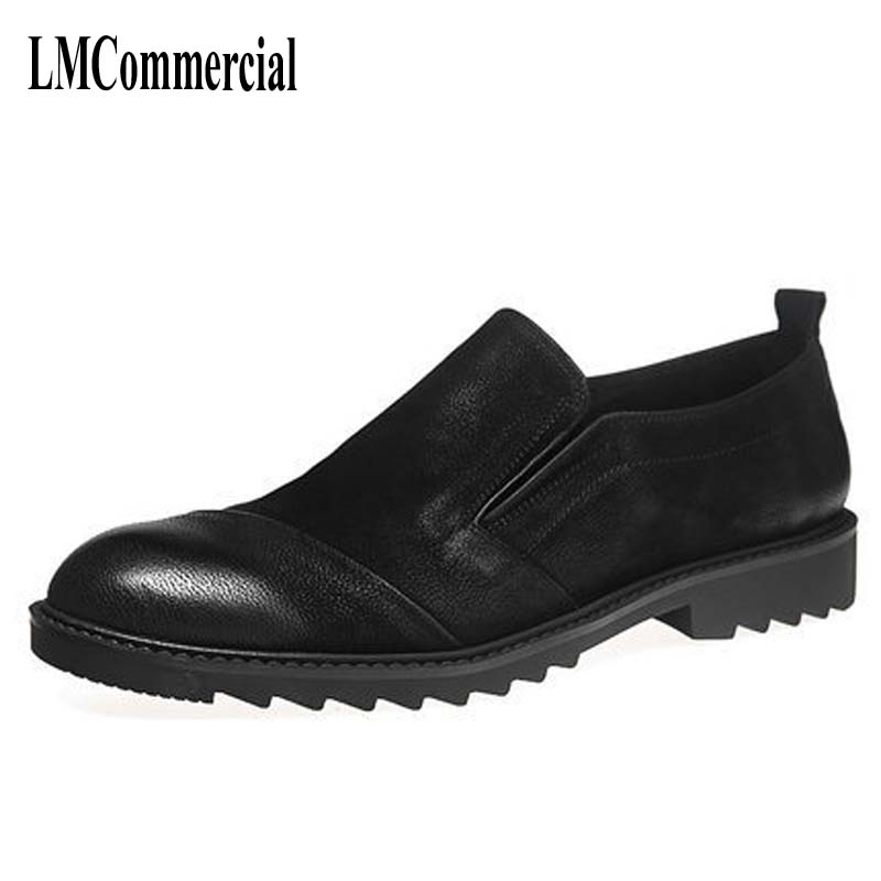 The fall of New Mens Casual leather shoes retro Korean matte stylist British men's shoes men the fall of new men s casual shoes leather trend of korean youth all match low men shoes