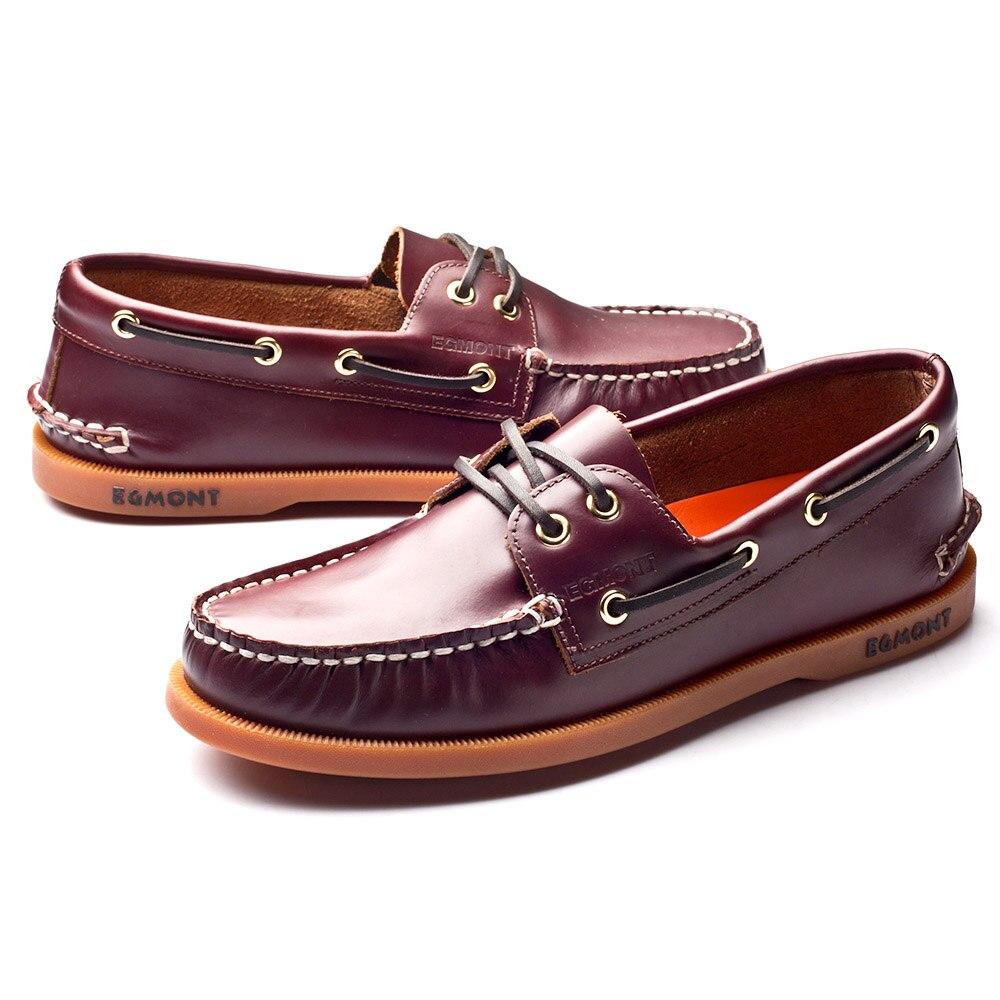 Эгмонт EG 09, винно красный цвет, весна лето, водонепроницаемые мокасины, мужская повседневная обувь, лоферы, натуральная кожа, масло, воск, ручная работа, удобная дышащая обувь - 6