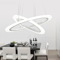 restaurant salon office hanging lamp Ring LED Modern Pendant Lights simple living room restaurant creative personality shop lamp