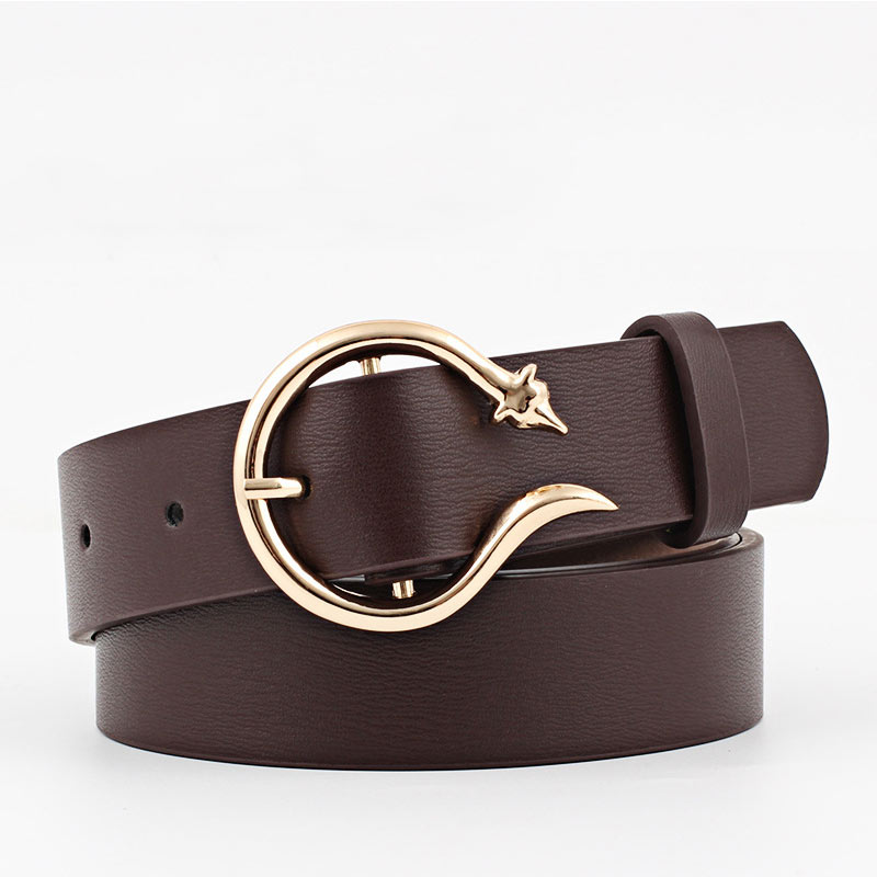 Women Belt Imitation Leather Alloy Individuality Pin Buckle Belts Ceinture New Type Decorative Wide Fashion Trousers Ladies Belt in Women 39 s Belts from Apparel Accessories