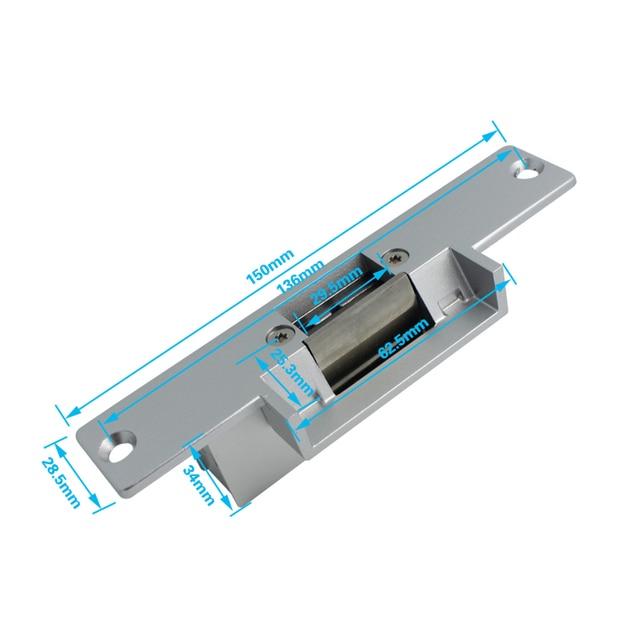 JERUAN RFID Password Access Controller Metal Waterproof Backlight button Door control system kit + Doorbell+Electric Strike lock
