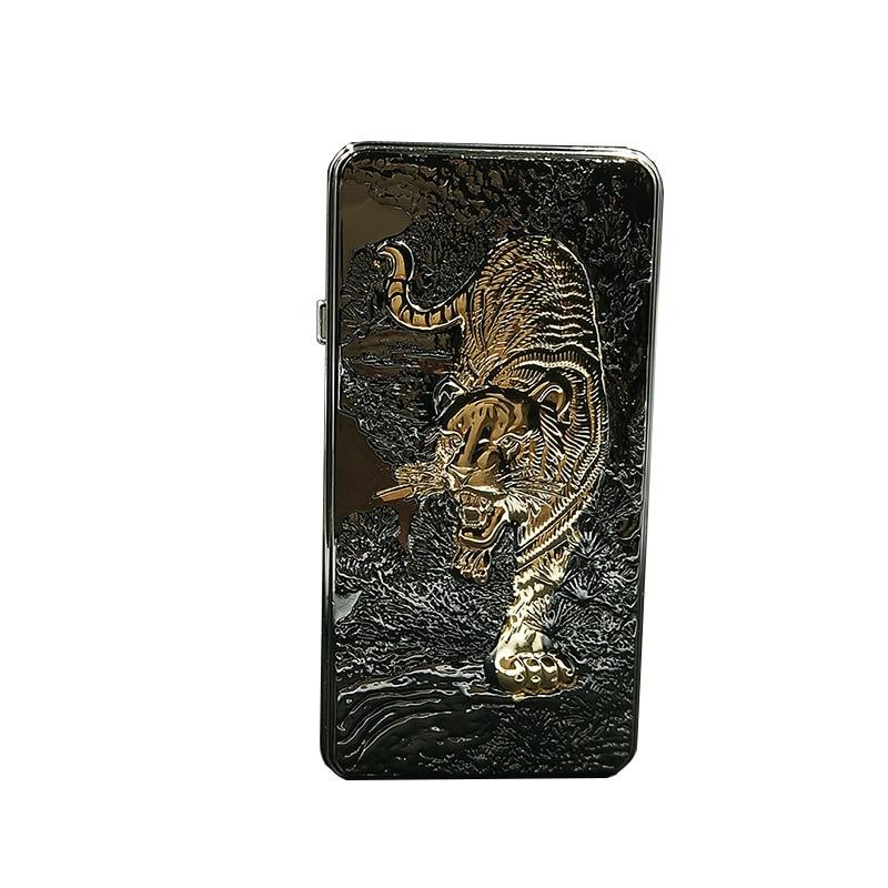 Pocket Metal Tiger Eagle Dragon Lighter Windproof Charge USB Lighter font b Electronic b font font