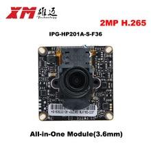 2016  New Arrival Megapixel 2.0 Megapixel H.265 IP Camera Module Board 1080P CCTV Camera IP Chip Board Mobile Phone View