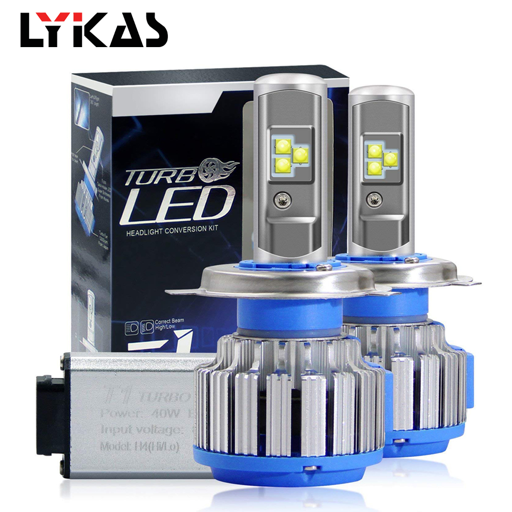 LYKAS Led Car Headlight Bulbs 9012 HIR2 9007 HB5 9006 HB4 9005 HB3 9003 HB2 H4