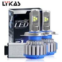 LYKAS Led Car Headlight Bulbs 9012/HIR2 9007/HB5 9006/HB4 9005/HB3 9003/HB2 H4 H7 H11 H3 H1 Led 80W 8000LM 6000K Play & plug