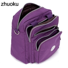 Vrouwen Messenger Bags Licht Reizen Handtas Waterdichte Nylon Dubbele Schoudertassen Casual Kwaliteit Crossbody Bag Lady Flap Tote