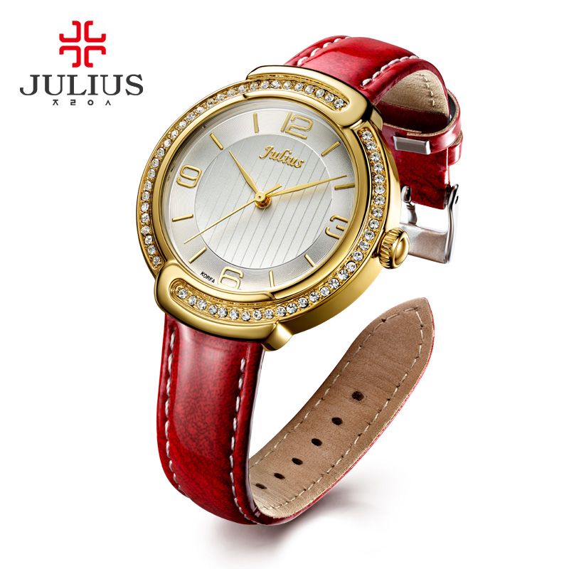 JULIUS 2017 Rose Gold Wrist Watch Women Lady Brand Luxury Famous Golden Quartz Watch Female Clock Relogio Feminino Montre Femme 2017 ceramic ladies wristwatches rose gold watch women luxury fashion quartz watch female clock relogio feminino montre femme