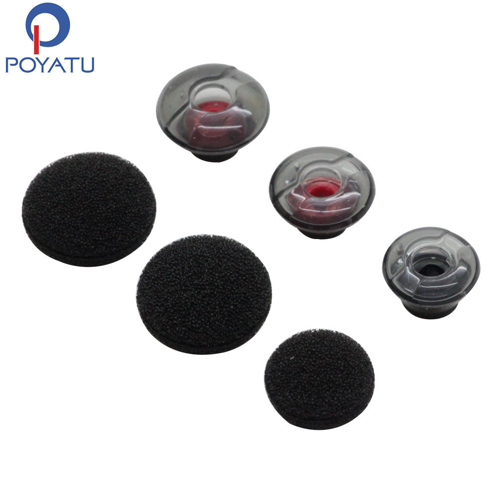 POYATU Gel Eartips Silicone For Plantronics Voyager 5200 Earbuds Silicone 3 Pcs Soft Gel Ear Tips 3 Pcs Earpads Cover Tips S/M/L(China)