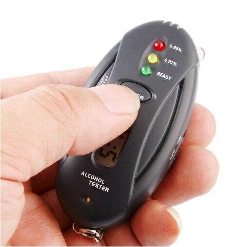Free shipping Digital Alcohol Breath Tester Analyzer Breathalyzer LCD
