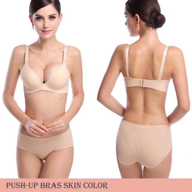 Gather Adjustable Women Bra Seamless Underwear
