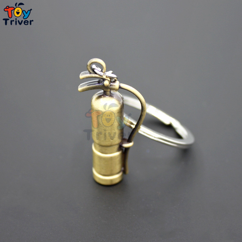 Creative Simulation Fire Extinguisher Model Toy Keyring Key chain bag pendant christmas birthday party game gift Triver