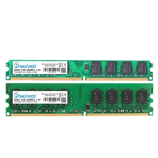 SNOAMOO Настольный ПК RAMs DDR2 4 Гб (2x2 Гб) 800 МГц PC2-6400S 240-Pin 1,8 в DIMM для intel и AMD совместимый компьютер памяти гарантия 3