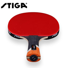 Original Stiga 6 stars Table tennis racket Ddouble Pimples-in rubber Ping Pong Racket tenis de mesa table tennis with bag(China)