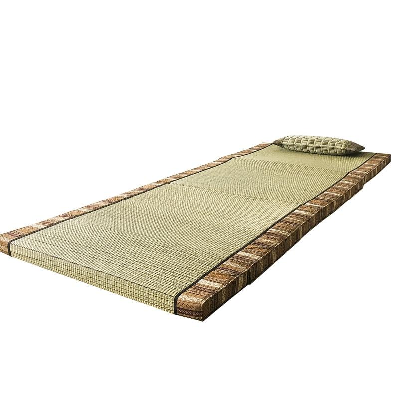Tapis pliant en Tatami de paille Rectangle tapis de grande taille tapis Judo japonais Futon Tatami tapis pliable en paille pour dormir